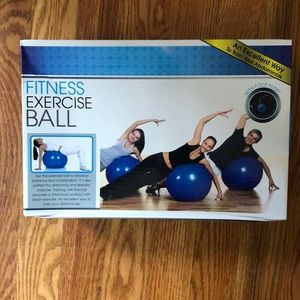 NIB fitness exercise ball with foot pump